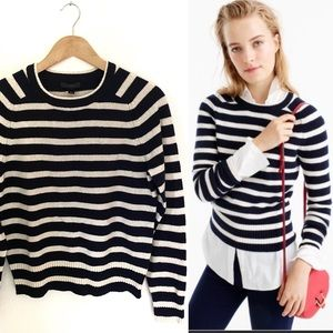 J.Crew Holly Stripes 100% Wool Sweater! NWT!